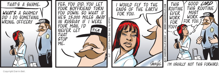 Comic Strip Darrin Bell  Candorville 2017-06-27 fly