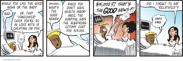Comic Strip Darrin Bell  Candorville 2017-07-17 health insurance