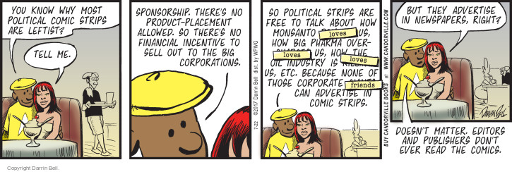 Comic Strip Darrin Bell  Candorville 2017-07-22 corporate
