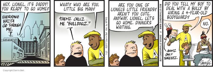 Cartoonist Darrin Bell  Candorville 2017-07-27 hire