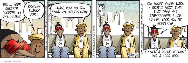 Comic Strip Darrin Bell  Candorville 2017-08-03 check-in