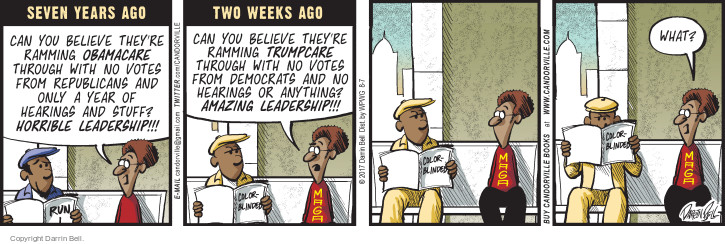 Comic Strip Darrin Bell  Candorville 2017-08-07 republican