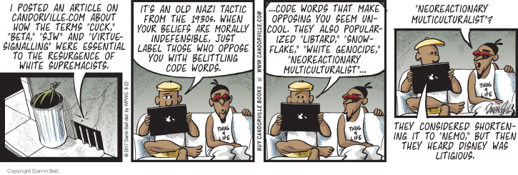 Comic Strip Darrin Bell  Candorville 2017-08-22 supremacist