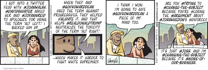 Comic Strip Darrin Bell  Candorville 2017-08-31 supremacist