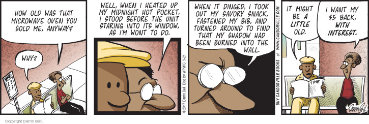 Comic Strip Darrin Bell  Candorville 2017-09-21 burn