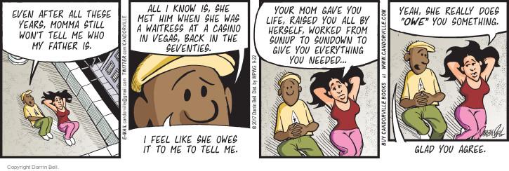 Comic Strip Darrin Bell  Candorville 2017-09-22 debt