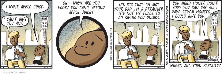 Comic Strip Darrin Bell  Candorville 2017-10-06 beverage