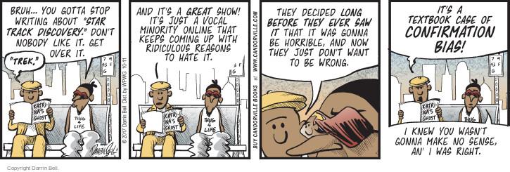 Comic Strip Darrin Bell  Candorville 2017-10-11 ridiculous