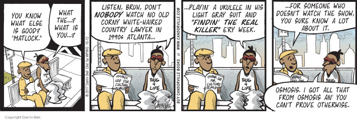 Comic Strip Darrin Bell  Candorville 2017-10-12 killer
