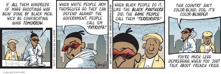 Comic Strip Darrin Bell  Candorville 2017-10-17 racial