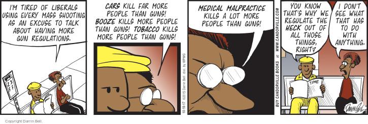 Cartoonist Darrin Bell  Candorville 2017-10-19 do