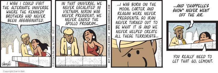 Comic Strip Darrin Bell  Candorville 2017-10-27 Reagan