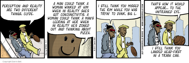 Comic Strip Darrin Bell  Candorville 2017-11-01 perception reality