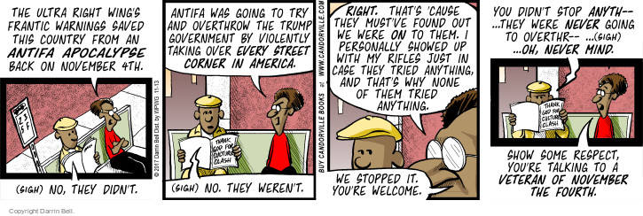 Comic Strip Darrin Bell  Candorville 2017-11-13 violent