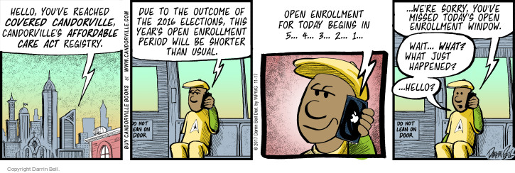 Comic Strip Darrin Bell  Candorville 2017-11-17 affordable care act