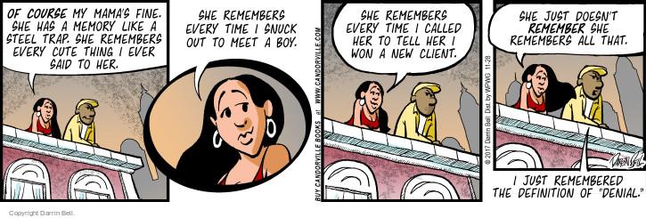 Comic Strip Darrin Bell  Candorville 2017-11-28 denial