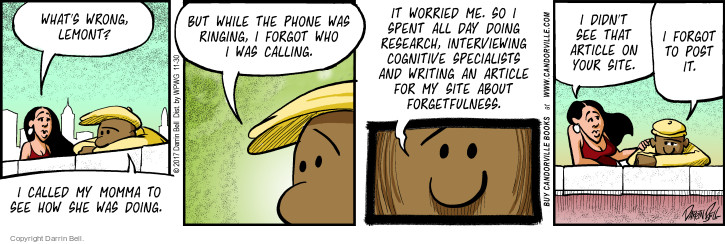 Comic Strip Darrin Bell  Candorville 2017-11-30 phone call