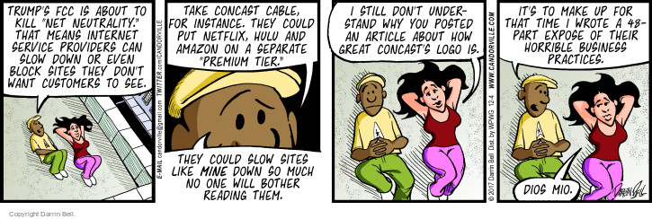 Comic Strip Darrin Bell  Candorville 2017-12-04 cable