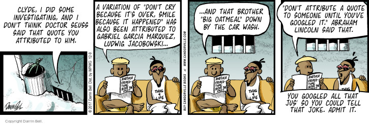 Comic Strip Darrin Bell  Candorville 2017-12-09 big car