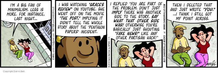 Comic Strip Darrin Bell  Candorville 2018-01-11 movie review