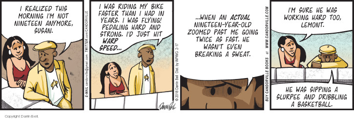 Comic Strip Darrin Bell  Candorville 2018-02-17 bike