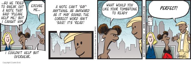Comic Strip Darrin Bell  Candorville 2018-03-10 overhear