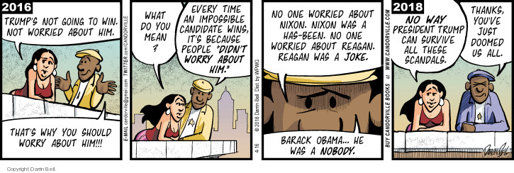 Comic Strip Darrin Bell  Candorville 2018-04-16 Barack Obama
