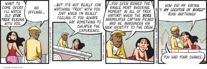 Comic Strip Darrin Bell  Candorville 2018-04-30 new experience