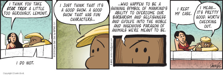 Comic Strip Darrin Bell  Candorville 2018-05-01 meant