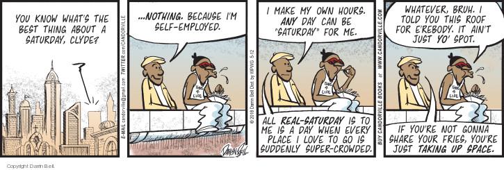 Comic Strip Darrin Bell  Candorville 2018-05-12 super