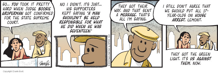 Comic Strip Darrin Bell  Candorville 2018-10-06 judge
