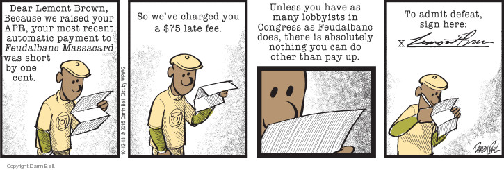 Comic Strip Darrin Bell  Candorville 2018-10-12 credit card