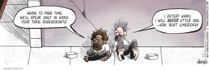 Cartoonist Darrin Bell  Candorville 2018-11-13 Rosencrantz