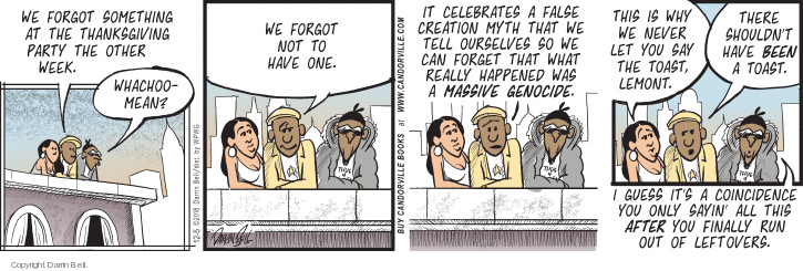 Comic Strip Darrin Bell  Candorville 2018-12-05 celebration