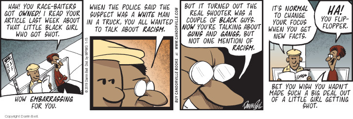 Comic Strip Darrin Bell  Candorville 2019-01-15 shooting