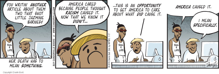 Comic Strip Darrin Bell  Candorville 2019-01-17 shooting