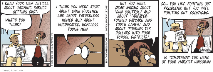 Comic Strip Darrin Bell  Candorville 2019-01-18 violent