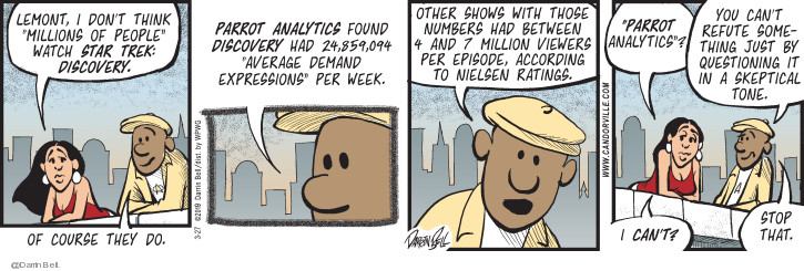 Comic Strip Darrin Bell  Candorville 2019-03-27 watch television
