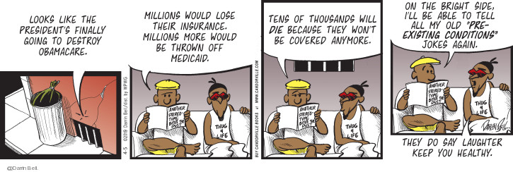 Comic Strip Darrin Bell  Candorville 2019-04-05 death dying