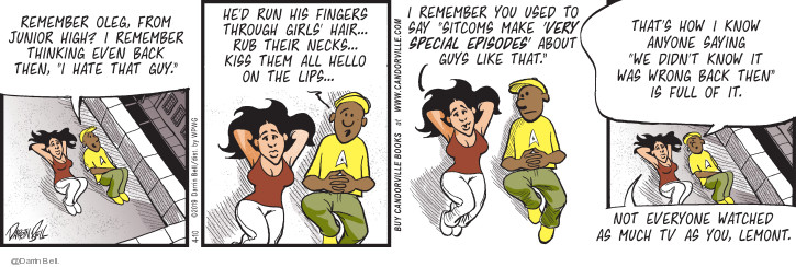 Comic Strip Darrin Bell  Candorville 2019-04-10 finger