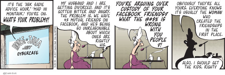 Comic Strip Darrin Bell  Candorville 2019-05-23 Facebook friend