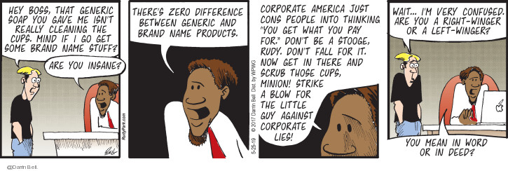 Comic Strip Darrin Bell  Candorville 2019-05-25 corporate