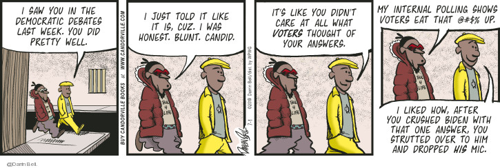 Comic Strip Darrin Bell  Candorville 2019-07-01 election debate