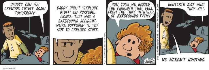 Comic Strip Darrin Bell  Candorville 2019-07-12 eat