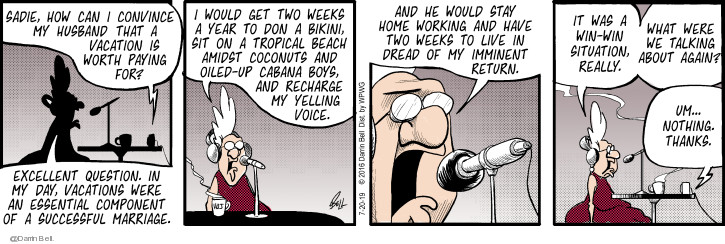 Comic Strip Darrin Bell  Candorville 2019-07-20 voice