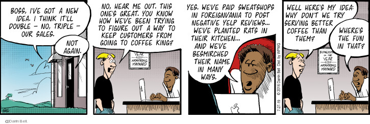 Comic Strip Darrin Bell  Candorville 2019-07-27 coffee
