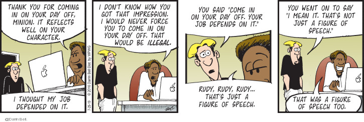 Comic Strip Darrin Bell  Candorville 2019-07-29 employee employer