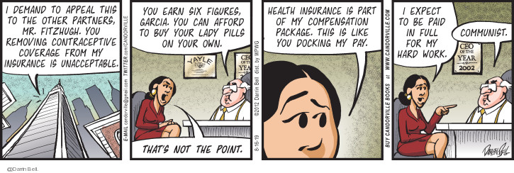 Comic Strip Darrin Bell  Candorville 2019-08-16 health insurance