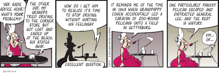 Comic Strip Darrin Bell  Candorville 2019-08-30 talk radio