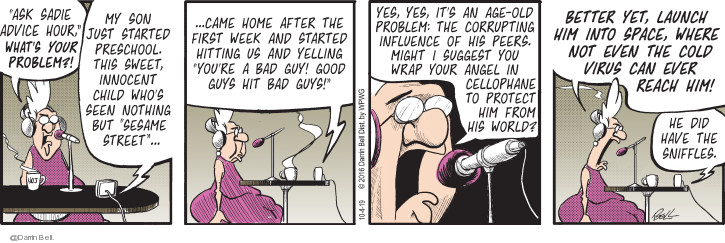 Comic Strip Darrin Bell  Candorville 2019-10-04 talk radio